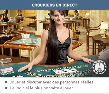 Blackjack avec croupiers en direct