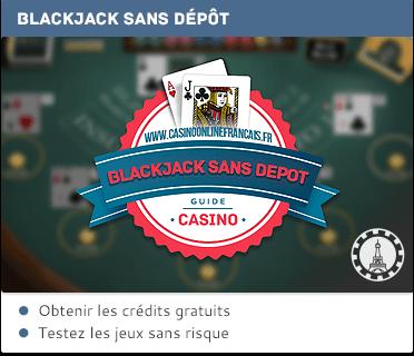 bonus sans dépôt pour le blackjack