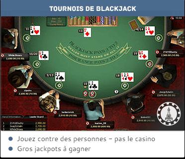 Tournois de blackjack en ligne