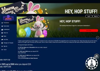 Happy Easter de la part du casino en ligne Jackpot Wheel