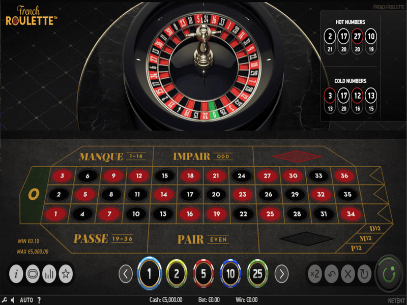 jeu French Roulette