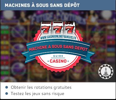 bonus sans dépôt pour les machines à sous