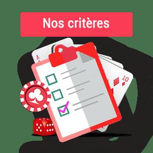 critères de sélections