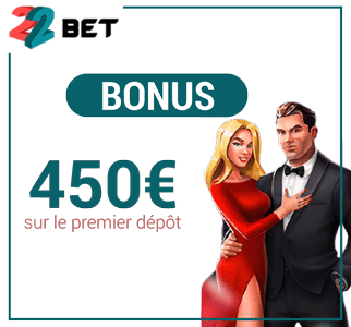 bonus d'inscription 22Bet Casino